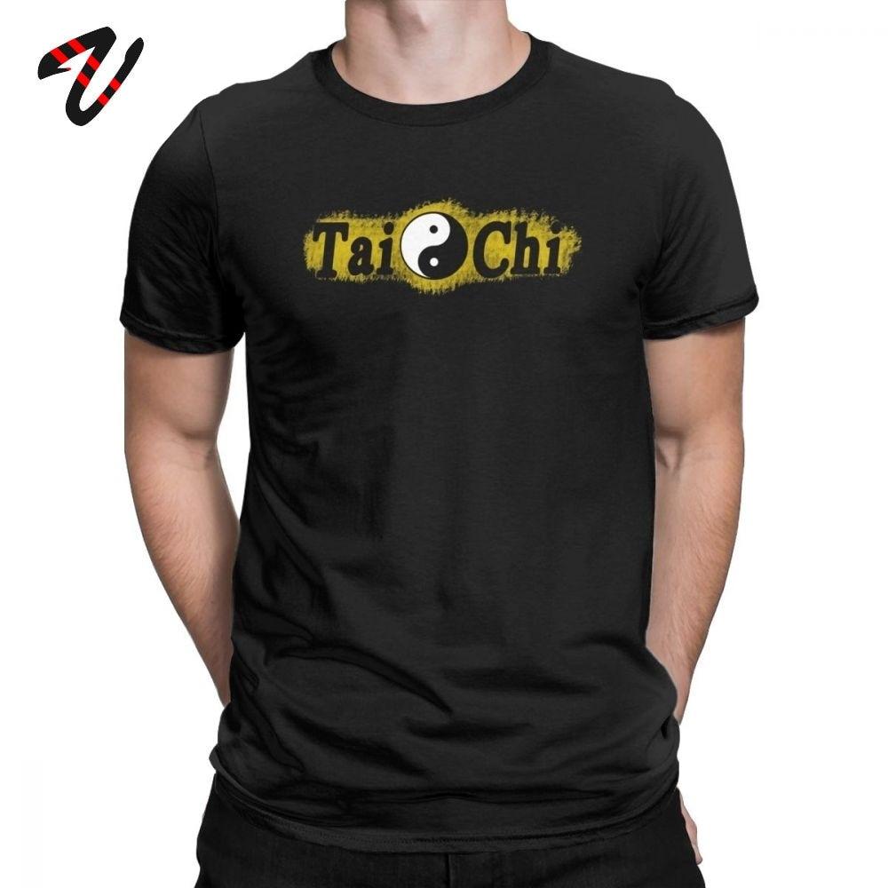 Мужская футболка в китайском стиле Tai Chi Chuan Pa Kua Yin Yang футболка шикарные футболки с короткими рукавами футболки с круглым вырезом хлопок Новое поступление Топы