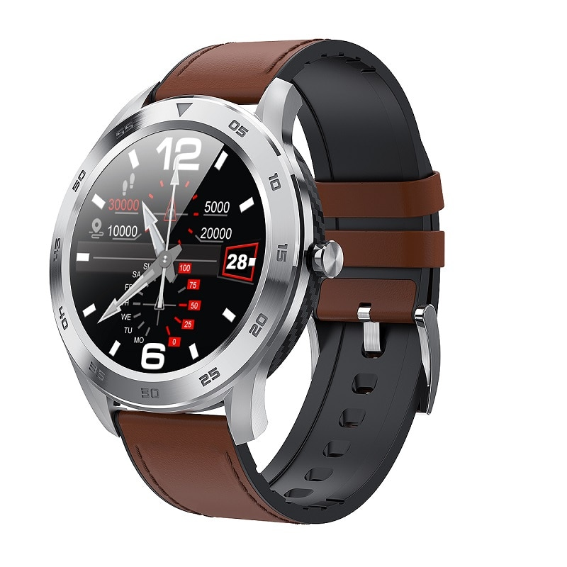 ساعة متصلة DTN O.I No.1 DT98 ECG 1.3 ، للرجال ، مع شاشة مستديرة عالية الدقة ، مع حاسبة ، اتصال بلوتوث ، مراقبة النوم ، 2020