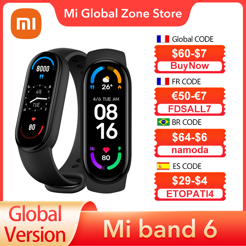 Global Version Xiaomi Mi Band 6 Smart Bracelet 1.56