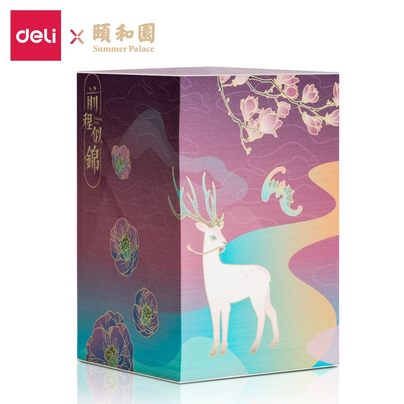Deli 21717 Notepad 860 Sheets/pack  Chinese culture Memo Pad Stickers Decal Sticky Notes Scrapbooking Diy Kawaii Notepad Diary