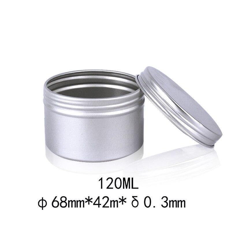 48 Uds 120g 4oz tarro de cosméticos de aluminio lata contenedor con tapa de rosca hilo vacío contenedores de bálsamo labial cuidado de la cara de la crema del ojo de olla