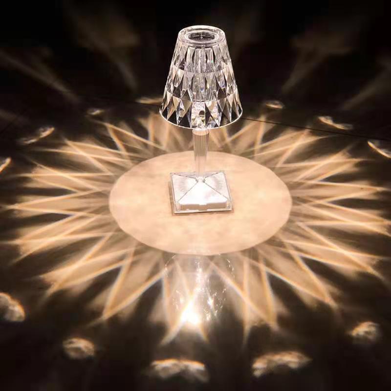 Italian Design Crystal Lamp 26*12cm Luxury Home Decoration Table Lamp LED Lamp Holiday Decoration Bedroom Decoration