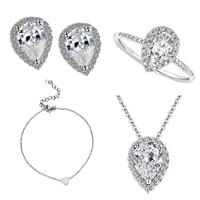 women bohemian jewelry fashion simple jewelry set 4pcs for earrings bracelets necklaces 2021 new jewelry women gift 2021 p4