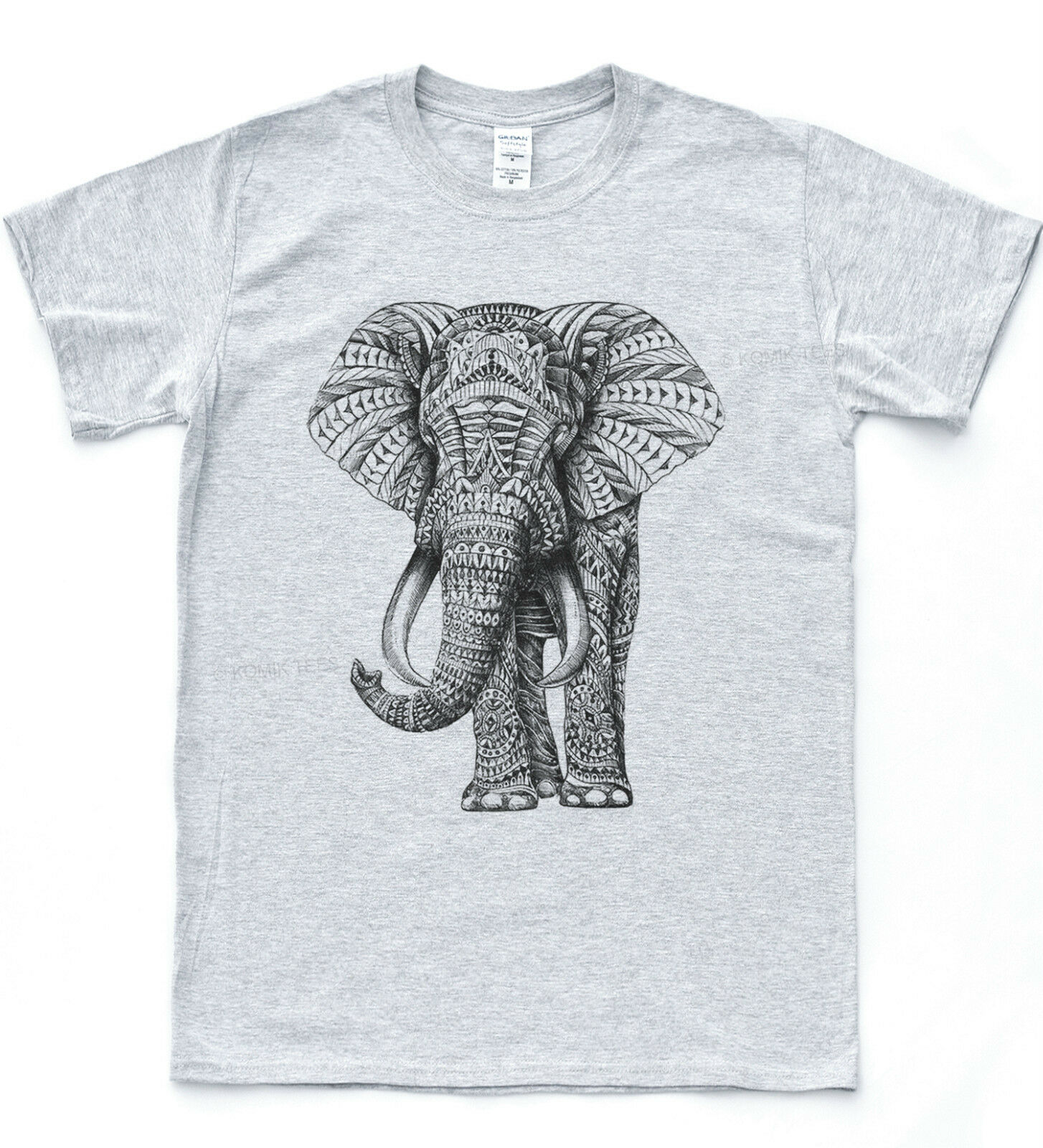 Elefante Navajo estilo estampado camiseta azteca Hipster África salvaje camiseta de naturaleza