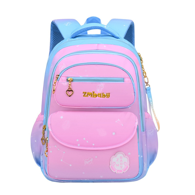 New Pink Gradient Backpacks cute Student Schoolbags For Girls School Bag Waterproof Children's book bags for teenage girls kids
