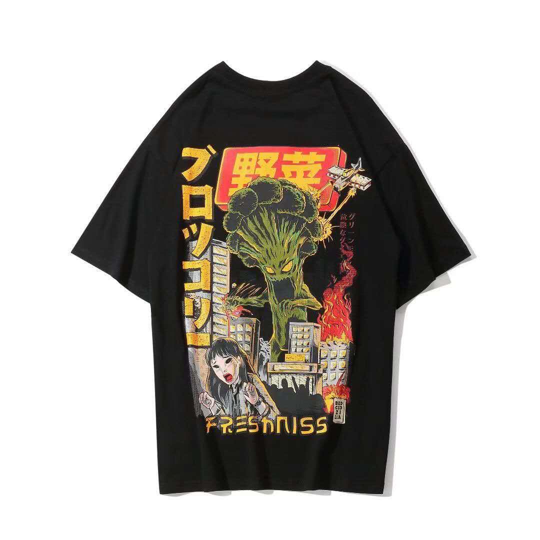 Männer Kleidung Japanische t-Shirt Sommer Mode Kurzarm Kleidung Mens Übergroßen t-Shirts Lustige Hip Hop Rap Städtischen Streetwear