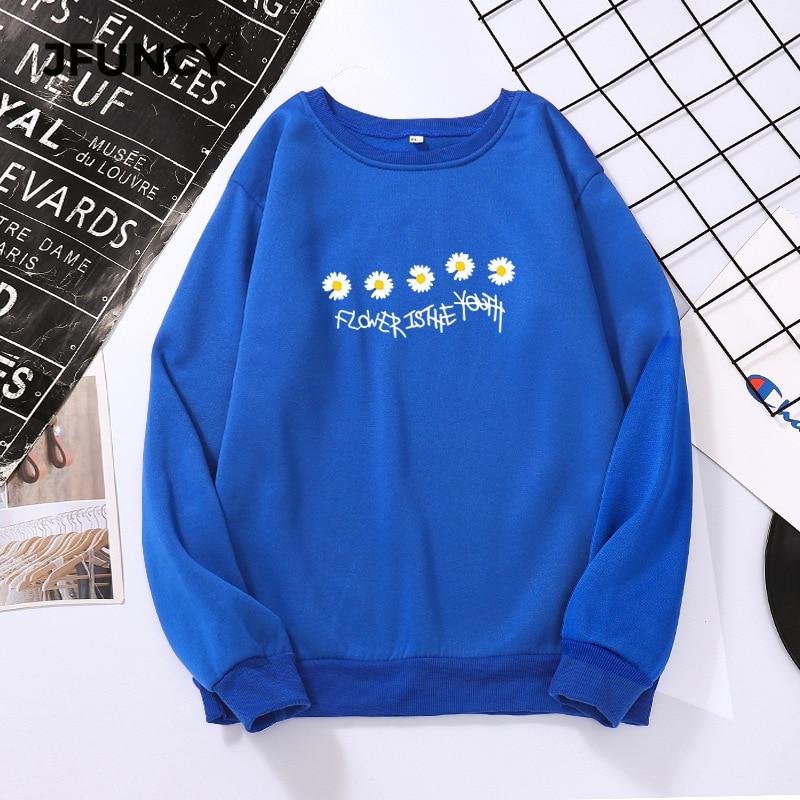 JFUNCY женские толстовки оверсайз осенние кофты Женская одежда с длинным рукавом Повседневный свободный Женский Пуловер женский топ Mujer Sudadera