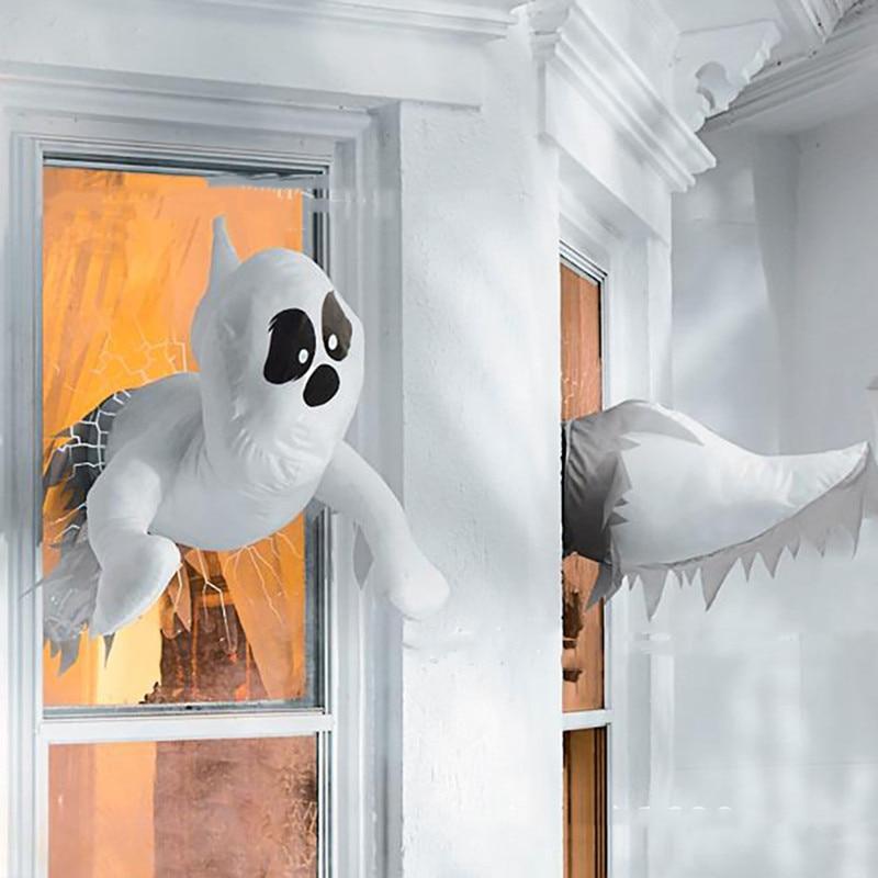 Украшение для окна на Хэллоуин 2022, украшение для окна в виде призрака, украшение для наружной двери и окна на Хэллоуин