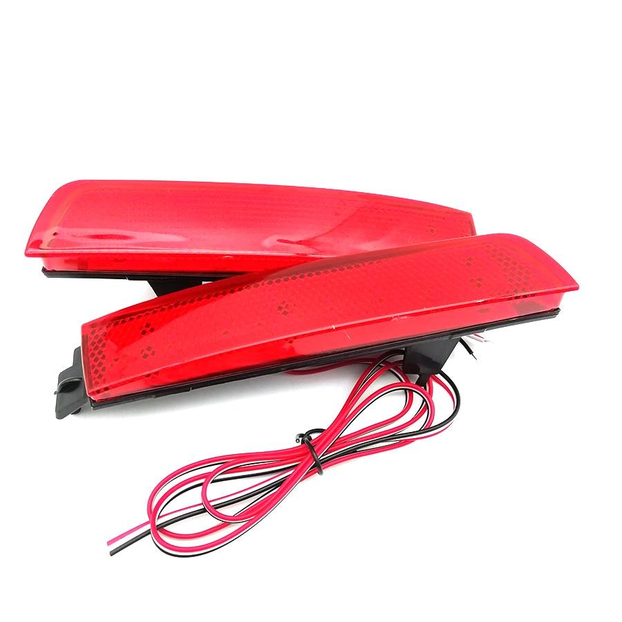 1 Pair 12V Rear Bumper Reflector Red Lens Tail Brake Lamp For Nissan Juke