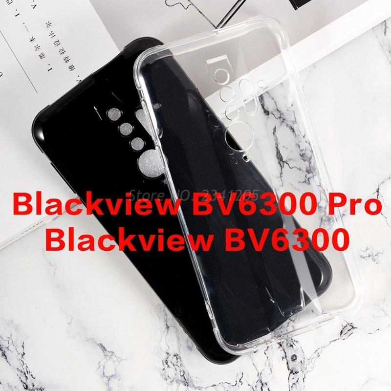 Caja del teléfono transparente para Blackview BV6300 de silicona Caso carcasa TPU negra suave para Blackview BV6300 Pro teléfono Shell Couqe Funda