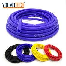 Auto wąż silikonowy próżniowy 100% silikonowy 5 metr 3mm/4mm/6mm/8mm Intercooler łącznik rury rurki silikonowe niebieski czarny czerwony