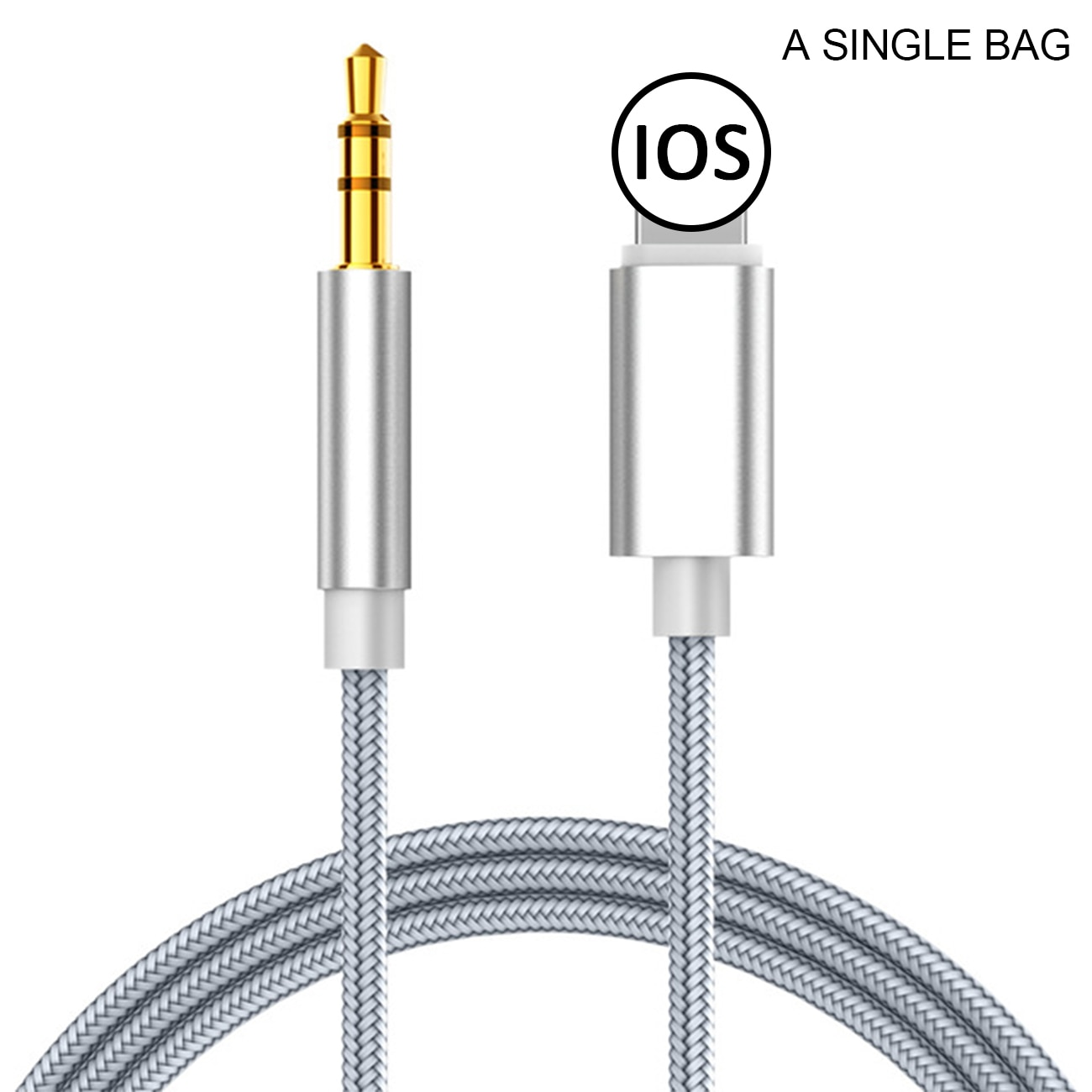 Audio splitter Cable for Iphone  8 Pin To 3.5 Mm Jack Aux Cable Car Speaker Headphone Adapter for Ip