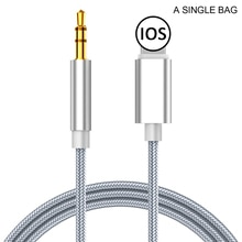 Audio splitter Cable for Iphone 8 Pin To 3.5 Mm Jack Aux Cable Car Speaker Headphone Adapter for Iph