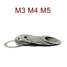 Joint de réglage Ultra-mince de haute précision de rondelle plate dacier inoxydable cale Ultra mince M3 M4 M5 épaisseur 0.1 0.2 0.3 0.5 1mm