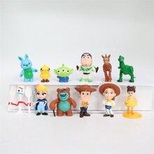 Versión Q historias de juguetes Buzz Lightyear Woody Jessie Forky perro Lotso Bullseye caballo mini figuras de acción de juguete chico regalo