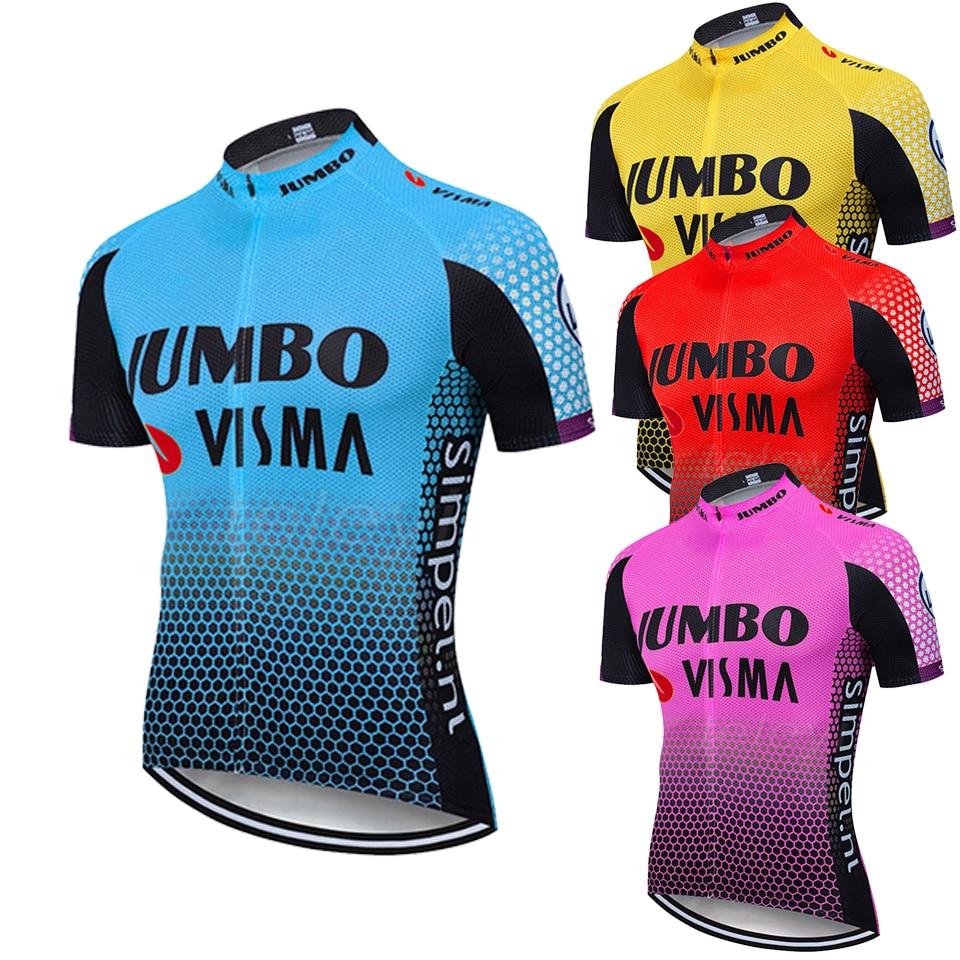 2020 equipo JUMBO VISMA verano Ciclismo camisetas de manga corta hombres Ropa de bicicleta Maillot Ropa Ciclismo Ropa de bicicleta de carreras