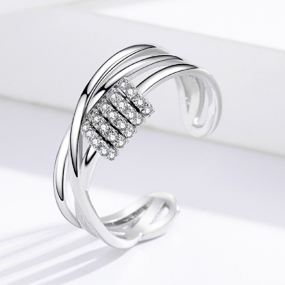 Classic 925 Sterling Silver Open Ring Size Adjustable Rings for Women Silver 925 Jewelry Silver Ring