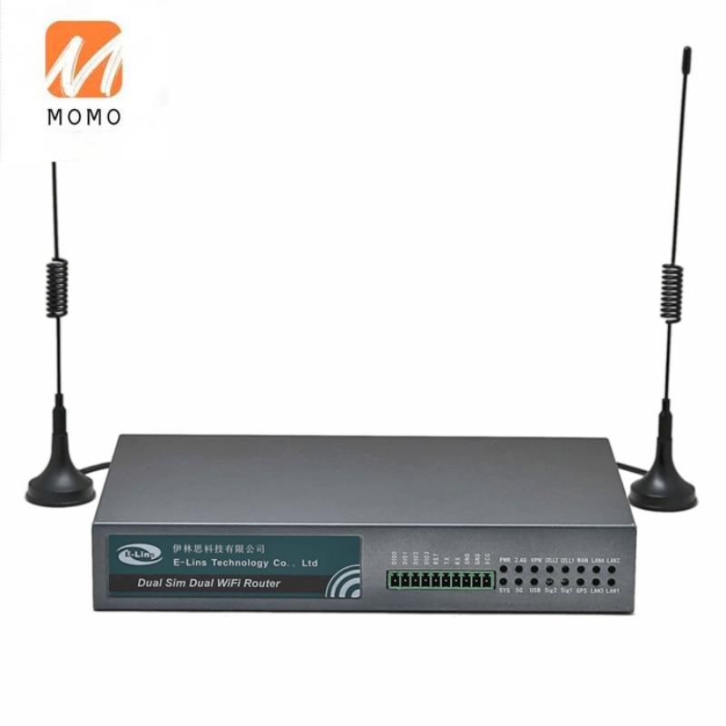 H700 الصناعية المزدوجة الفرقة 2.4G & 5G واي فاي الخلوية 3G 4G موجه مزدوج بطاقة SIM