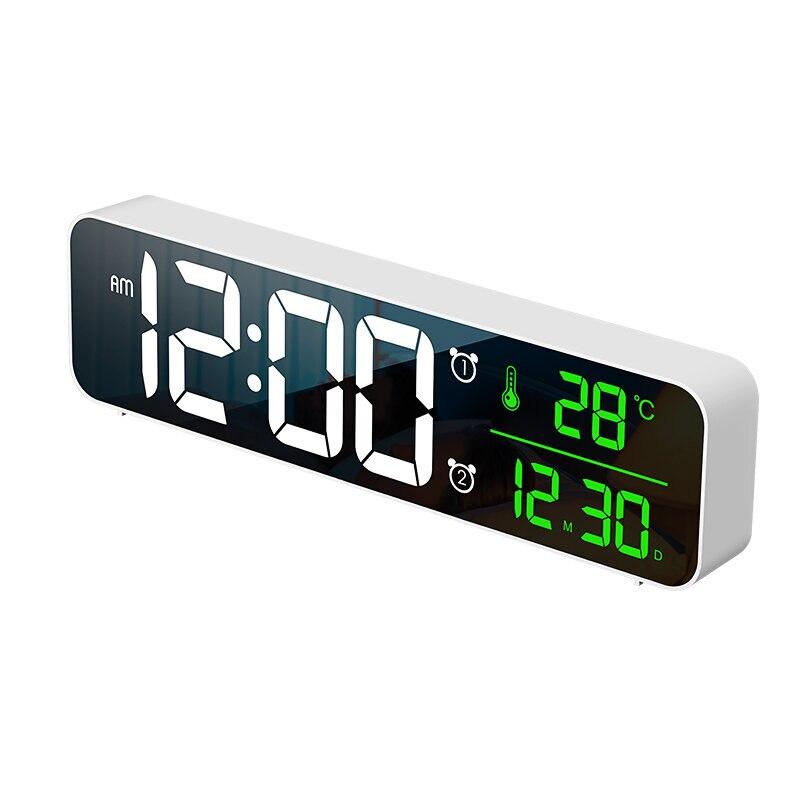 USB светодиодный 3D Музыкальный двойной будильник термометр Температура Дата HD светодиодный дисплей электронные настольные цифровые часы