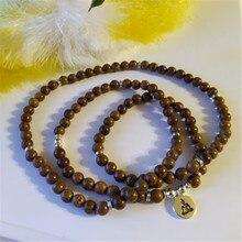 Prayering 108 Perline di Legno Buddismo OM Lotus Buddha Collana per le Donne Degli Uomini Collana Del Rosario Del Braccialetto Del Fiore della Vita Gioielli Regali