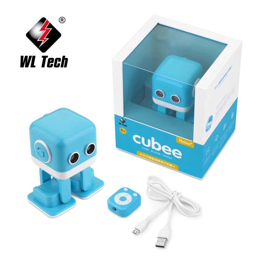 WLtoys Cubee F9 Mini Robot inteligente caminar música baile luz niños juguete programación APP Control remoto Prevención de obstáculos