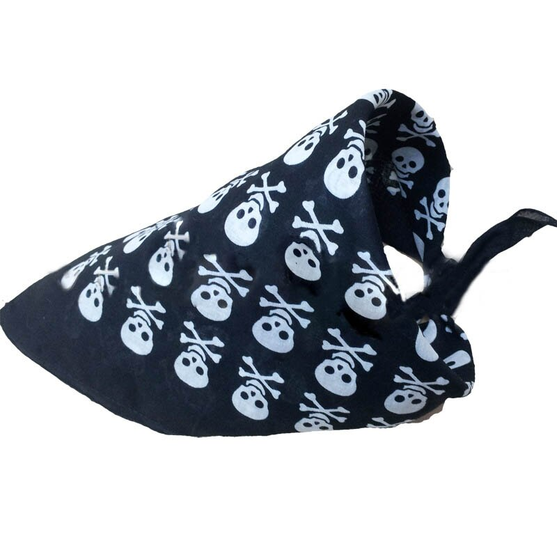 New 55*55 square scarf scarf pirate skull square pure cotton printing head scarf multifunctional silk scarf headband A288