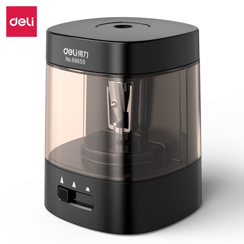 Deli 68659 electric pencil sharpener  USB Battery Pencil Sharpener Newly Upgraded and Convenient School Office Stationery
