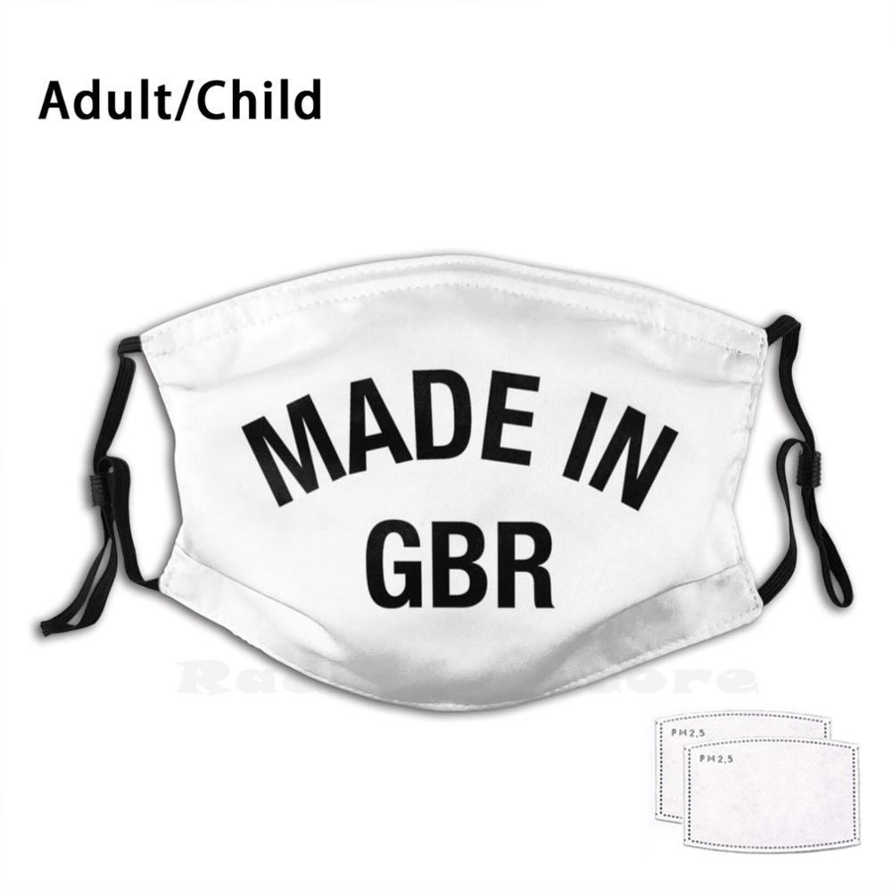 Great Britain Mask Funny Print Reusable Pm2.5 Filter Face Great Britain British Britain Brexit London Scotland England English
