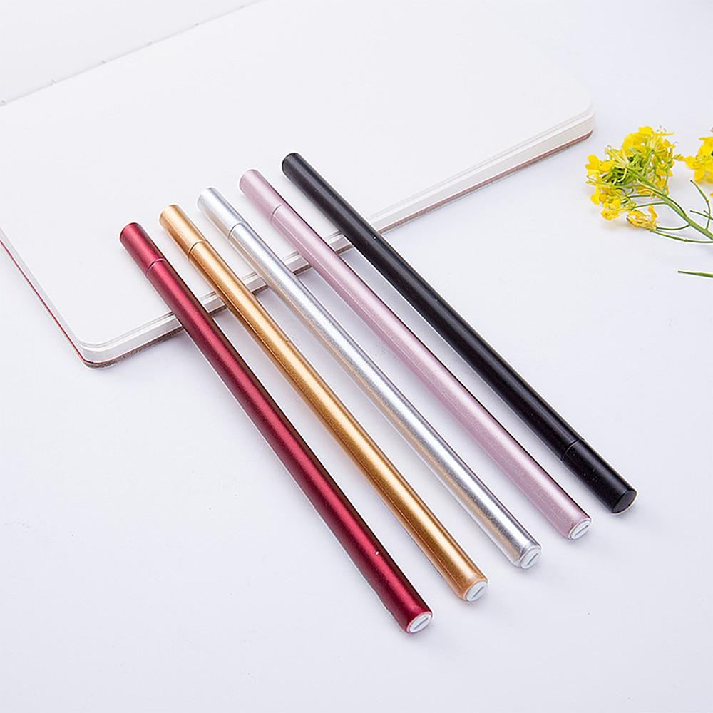 5 шт. студенческие канцелярские принадлежности имитация металла нейтральная ручка на водной основе черная авторучка канцелярские принадле...