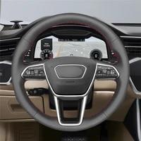 diy anti slip wear resistant steering wheel cover for audi a6 c8 avant allroad 2018 2019 a7 k8 18 19 car interior decoration