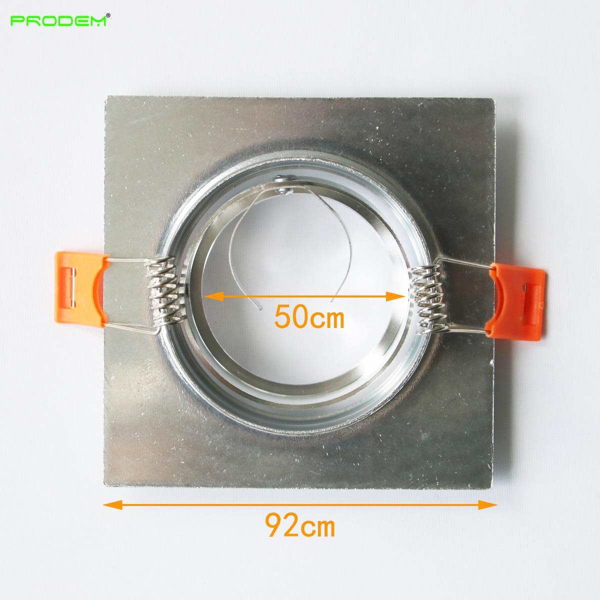 DHL 100*MR16 brim spot light edge GU10 frame single led down light fixture aluminum beam angle adjustable accessories enlarge