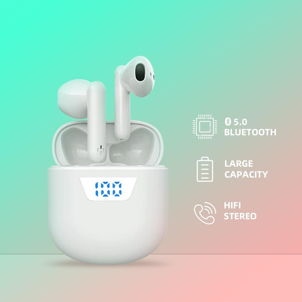 SZYHOME Bluetooth наушники оставшаяся батарея дисплей TWS HiFi 3D стерео наушники спортивные свободные руки беспроводные наушники зарядная коробка