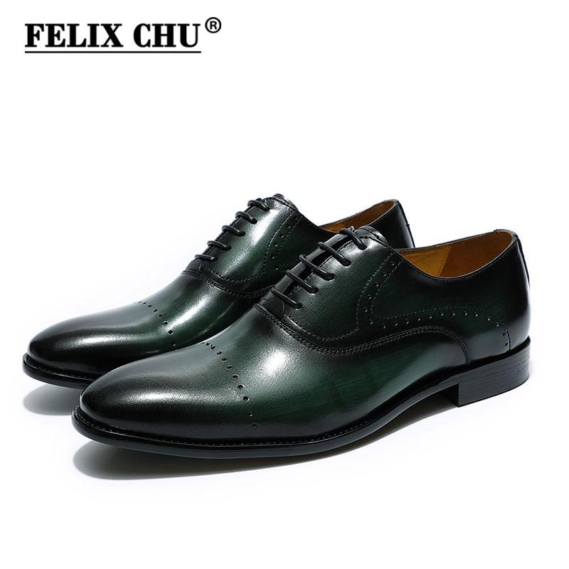 فاخر رجالي البروغ أكسفورد أحذية فستان جلد طبيعي أحذية الدانتيل متابعة أسود براون الأخضر الزفاف أحذية الرجال الأعمال الرسمي
