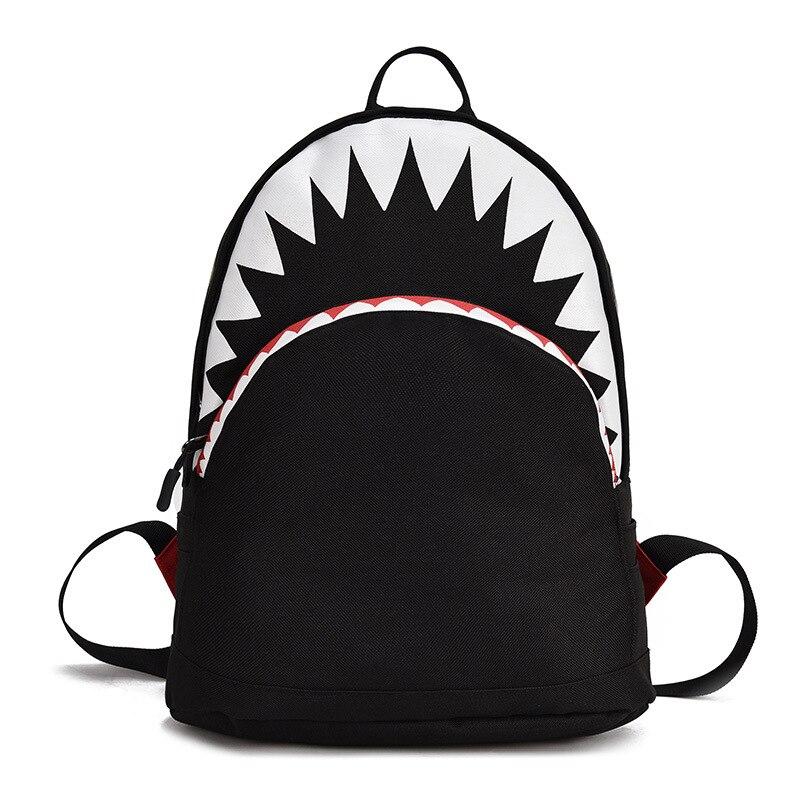 Crianças pequenas tubarão mochila com saco 3d criança saco de escola do jardim infância mochila lona por 2 tamanho aluno mochila novo estilo