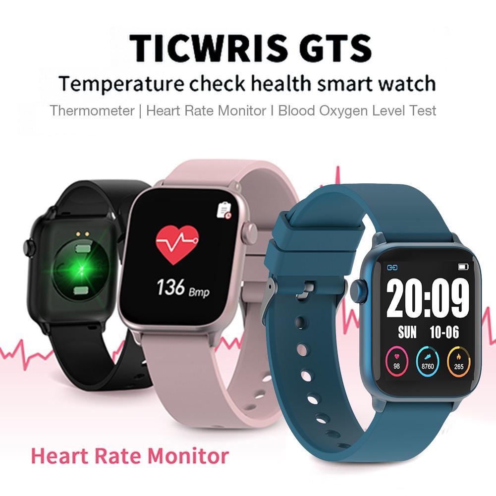 Reloj inteligente TICWRIS GTS IP68, reloj inteligente deportivo resistente al agua, con control de la temperatura corporal y del estado físico 2020
