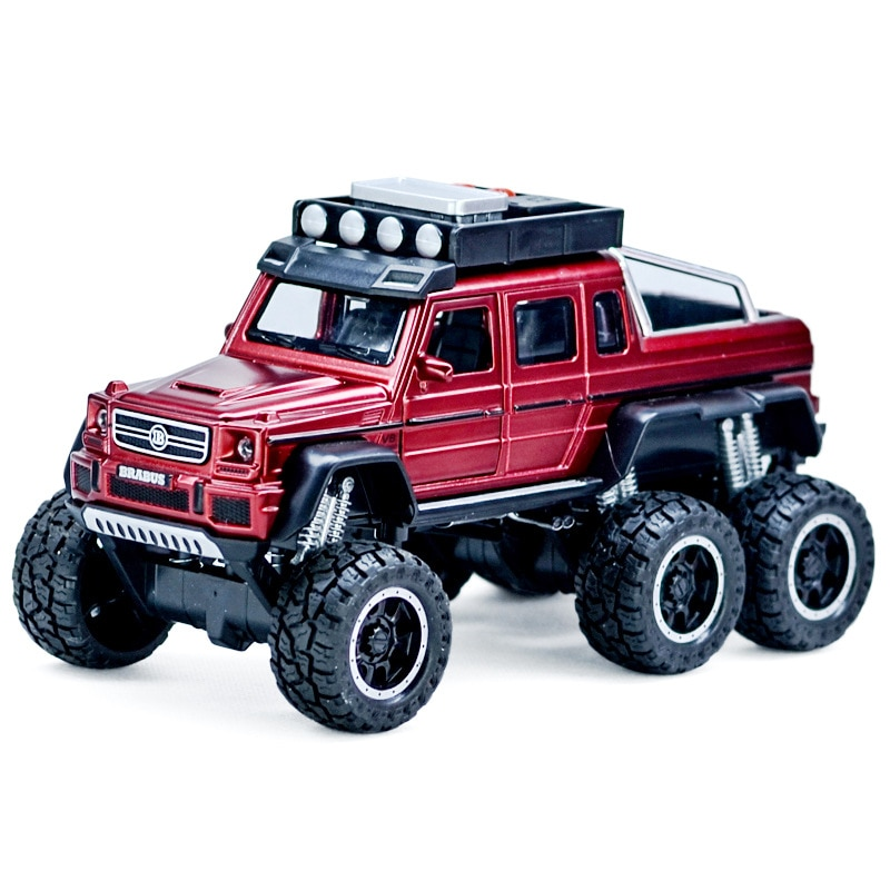 1:32 Diecasts & Toy Vehicles Metal Pull Back Car G63 Sound Light Six-Wheel Off-Road Alloy Toy Car Model Toys For Kids Boy Gift недорого