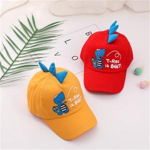 Children Baseball Cap Kids Boys Girls Hip-hop Cartoon Dinosaur Sun Hats Cotton Snapback Caps Outdoor Sport For 2-6 years Old