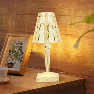 Diamond LED Desk Lamp USB Rechargeable Touch Sensor Bar Light Decor Restaurant Table Lamps Romantic Nightlight Fixture Bed Lamp