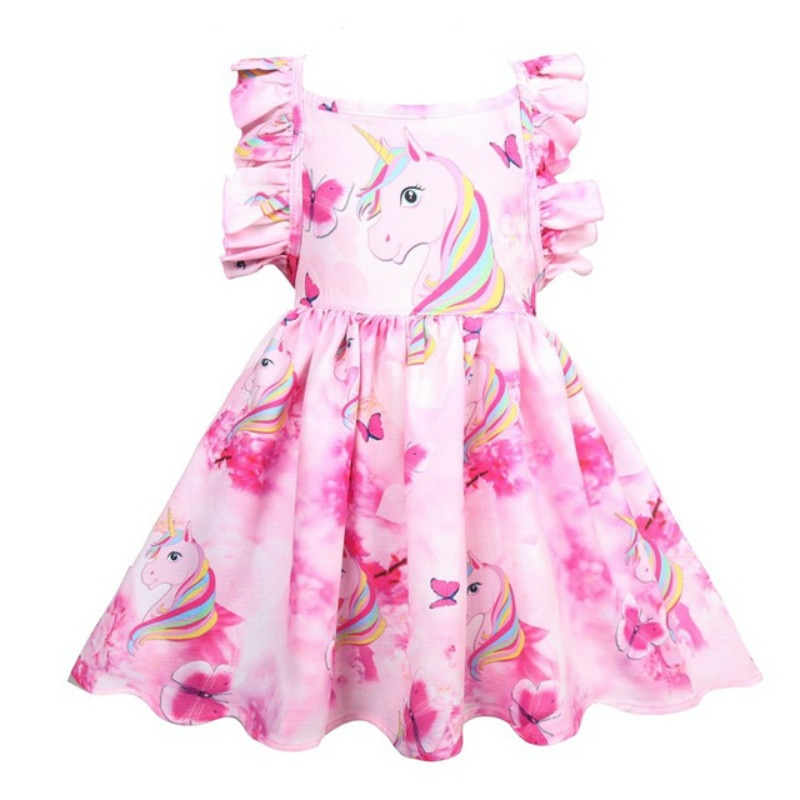 Vestido de disfraz para niñas, ropa para niños, vestido de unicornio para niñas, ropa de verano, disfraz de unicornio, vestido de princesa para niños