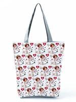 Женская сумка для покупок с принтом медсестры, модная вместительная Экологически чистая многоразовая дорожная Сумочка на плечо с индивиду...