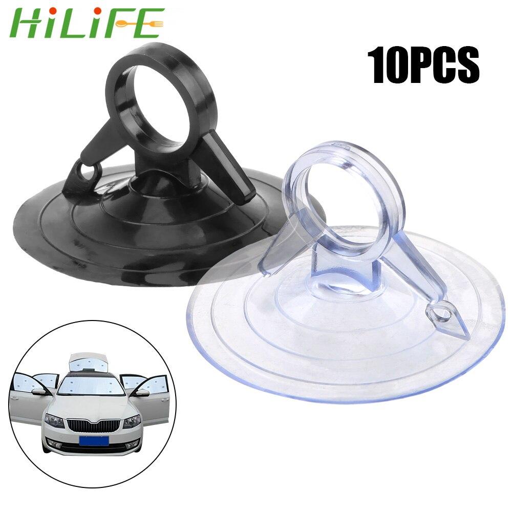 HILIFE, 10 Uds., parasol para coche, ventosa de PVC, Material 45mm de diámetro, fuerte anilla, ventosa para coche, ventosa para Interior automotriz