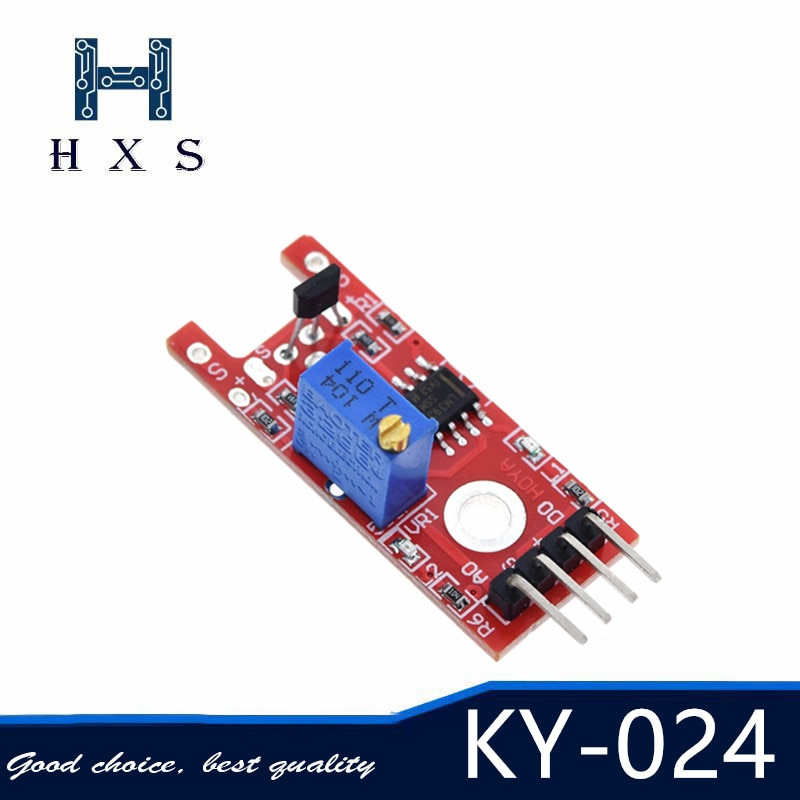 10pcs 4pin KY-024 Linear Magnetic Hall Speed Switches Counting Sensor Module for arduino DIY Kit KY024