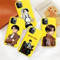 hot for iphone 12 11 pro xs max 12 mini xr 6 s 6s 7 8 plus soft candy tpu funda cover anime japanese attack on titan phone case