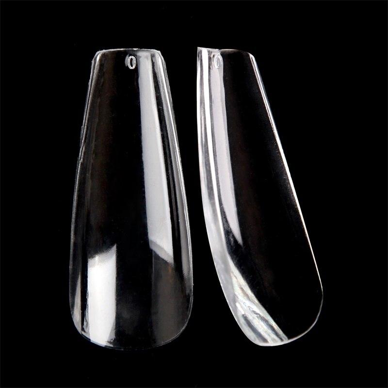 520pcs/box Fake Nails Salon Ultra thin Coffin Nail Art Transparent Full Cover Manicure False Nail Tips