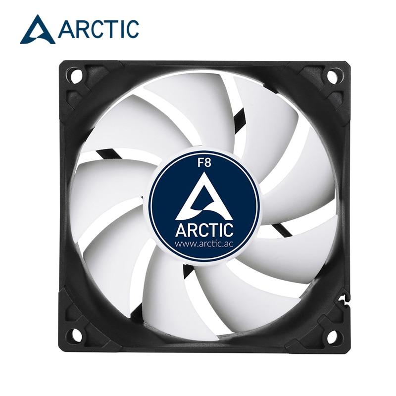 Carcasa de ordenador ARCTIC F8, ventilador de 8cm de 3 pines, 2000RPM, 80x80x25mm, ventilador de refrigeración por agua para CPU