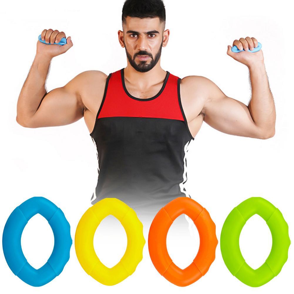 2PCS Adjustable Hand Grip Strengthener Finger Stretcher Silicone Exerciser Grips StrengthTrainer
