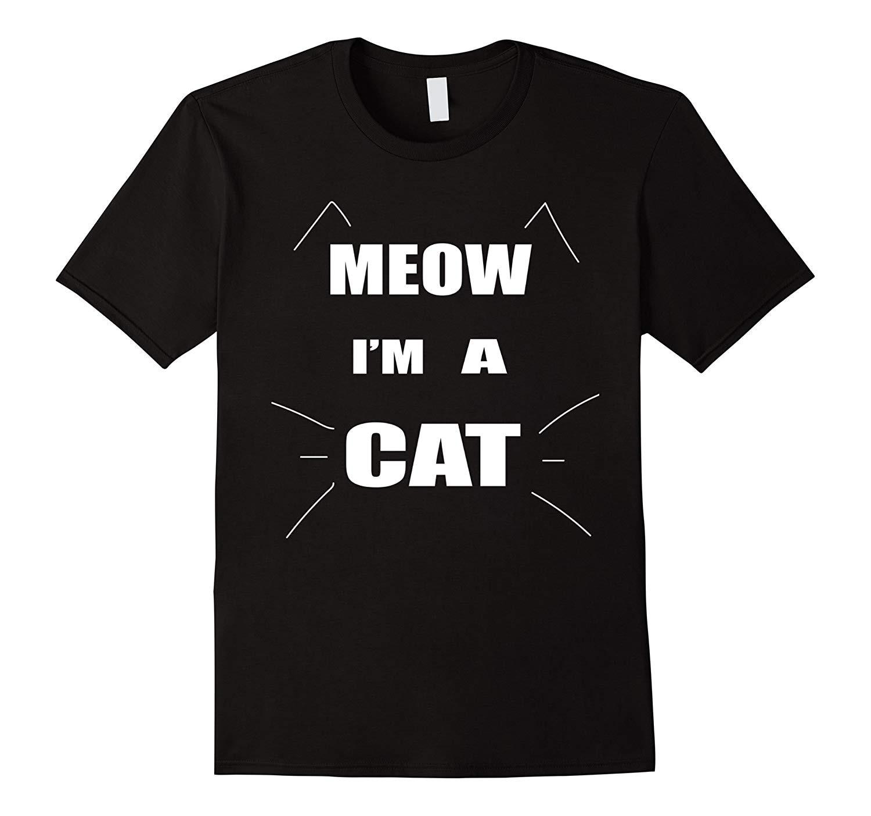 Camiseta para hombre Get Meow Im A Halloween disfraz camiseta para hombre de dibujos animados FunSummer moda calle corto manga camiseta