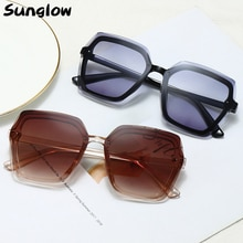 Sunglow  Women Sunglasses 2021 Fashionable Rectangular Glasses steampunk Shades Suitable for Wayfare