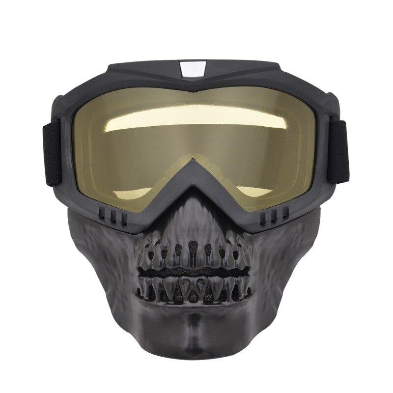 Visión Nocturna Paintball disparar gafas con máscara de cráneo al aire libre Airsoft CS War gafas para juegos ejército militar gafas tácticas