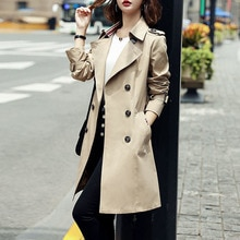 Winter Coat For Women Thin British Style Windbreaker Women's Mid-length 2021 Autumn And Winter New L
